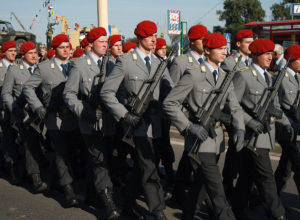 German Soldiers in the Military Parade