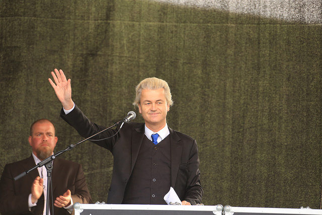 Geert Wilders the leader of the PVV party in the Netherlands