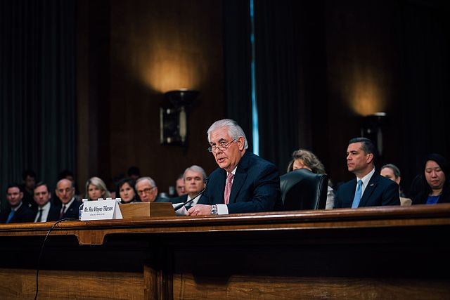 Mr. Rex Tellerson's confirmation hearing as a Secretary of State