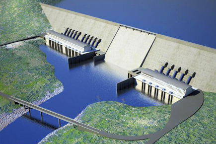 An overview rendition of the Grand Ethiopian Renaissance Dam