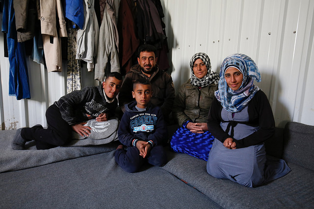 Syrian refugees in Azraq camp in Nothern Jordan. by Russell Watkins/DFID.